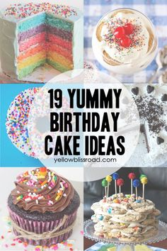 19 Yummy Birthday Cake Ideas