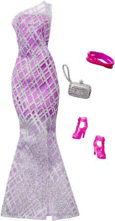 Barbie Complete Look Fashion Pack, Lavender Gown