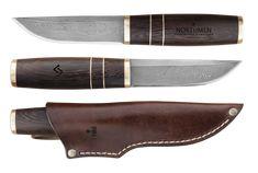 Northmen Guild - Finnish Puukko. Damascus (Medium size. African Wenge wood handle, Hardnes: Rockwell 61 (HRC))