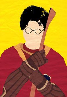 Harry Potter I Minimalist Poster - Harry by SlaterJess.deviantart.com on @deviantART