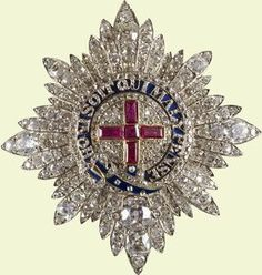 Diamond covered Star of the Order of the Garter. This one was made for Queen Victoria in 1838.