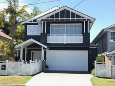 Hampton Style, Front Fence, Facade House, House Colors, The Hamptons, Shed, Exterior, Outdoor Structures, Colours