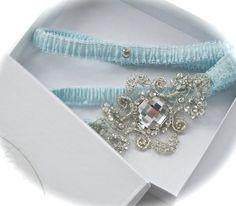 fancy blue garter $55
