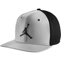 Jordan Jumpman Snapback Cap Adult ($30) ❤ liked on Polyvore featuring accessories, hats, jordans, snap back caps, snapback cap, caps hats, snapback hats and snap back hats