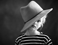 Cute little girl with hat