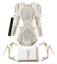 A fashion look from September 2015 featuring Balmain dresses, Tom Ford sandals and Yves Saint Laurent clutches. Browse and shop related looks. Classy Outfits, Sexy Outfits, Fashion Outfits, Womens Fashion, Fashion Trends, Fashion Clothes, Fashion Killa, Look Fashion, Autumn Fashion