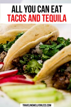 Taco Tuesday is even better with all you can eat tacos and tequila in Las Vegas. Here's everything you need to know about the AYCE tacos & tequila deal. all you can eat tacos and tequila | tacos and tequila | taco tuesday | las vegas | food deals | travelwell4less #travelwell4less Carne Asada, Healthy Instapot Recipes, Crockpot Recipes, Easy Recipes, Cooking Recipes, Las Vegas Food, Free Taco, Tacos And Tequila, Mexican Food Recipes