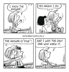 First Appearance: November 15th, 1983 #peanutsspecials #ps #pnts #schulz #franklin #peppermintpatty #marcie #answer #yes #maam #five #onlyone #knewit www.peanutsspecials.com Linus Van Pelt, Lucy Van Pelt, Snoopy Comics, Funny Comics, Peanuts Cartoon, Peanuts Gang, Snoopy School, Charles Shultz, Black And White Comics