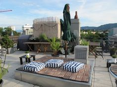 Hotel Helvetia's rooftop bar is decadent Zurich summertime at its best. Zürcher favourite 'Helvti' became infamous in the 1970s for illeg