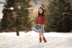 www.frostedproductions.com | #utah #photographer #commercial #photography #little #girl #holiday #fashion #christmas #pine #trees #pretty #lighting