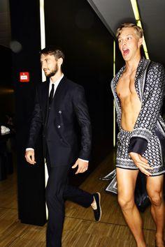 Dolce & Gabbana SS16 Men Fashion Show Milan Backstage | Sonny Vandevelde