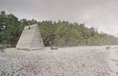 Tourists to a remote Swedish island will soon be able to abandon the hotel rooms to sleep inside triangular huts on a deserted beach.  Designed by Stockholm architects Jagnefalt Milton, each Black Lodge will have wooden walls that fold open so that guests can open the room out to the elements as much as they prefer.