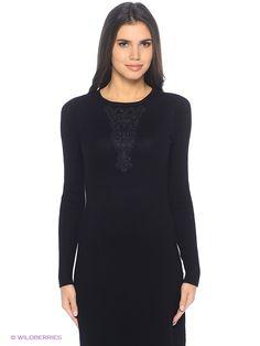 Платье Oodji. Цвет черный.