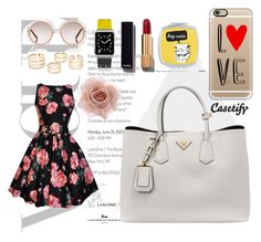 """""""Whats in my tote bag? :)"""" by casetify ❤ liked on Polyvore featuring Prada, Chanel, Chloé, Accessorize, Casetify, women's clothing, women's fashion, women, female and woman"""