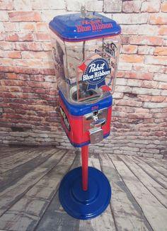 Pabst Blue Ribbon, Gumball Machine, Rooftop Bar, Glass Globe, Acorn, Man Cave, Restoration, Powder, Cricut