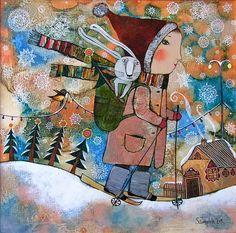живопись молодой талантливой белорусской художницы Анны Силивончик. Её зимние картины бесподобны.