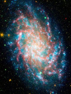 Galaxy M33. Don't know if it has a common name. So, I'll call it the Tilt-a-whirl Galaxy.