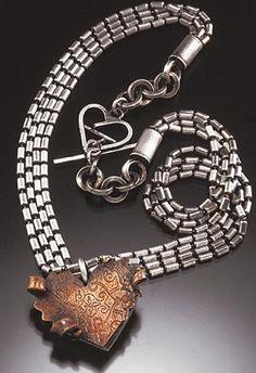 The Jewelry of Steff Korsage - Ganoksin Jewelry Making Community Metal Jewelry, Jewelry Art, Jewelry Necklaces, Jewelry Ideas, Contemporary Jewellery, How To Make Ornaments, Artisan Jewelry, Metal Working, Bracelet Watch