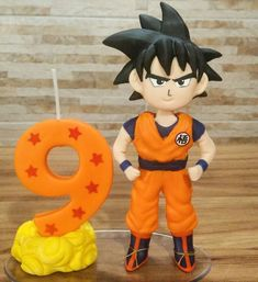 Vela Personalizada Biscuit Dragon Ball Dragon Ball Z, Pikachu, Cold Porcelain, Tigger, Superhero, Disney Characters, Party, Crochet, Cold