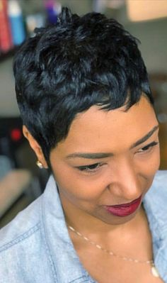 Short Pixie Haircuts, Cute Hairstyles For Short Hair, Pretty Hairstyles, Pixie Hairstyles, Short Sassy Hair, Short Hair Cuts, Pixie Cuts, Pixie Styles, Curly Hair Styles
