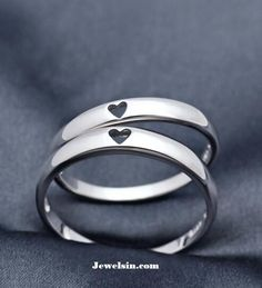 silver wedding bands for him and her