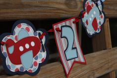 Little Boy Airplane Banner by 4HeartsPaperCraftCo on Etsy