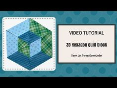 2-minute video tutorial: 3D hexagon quilt block – Sewn Up