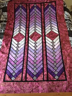 French braid quilt top - July 2014