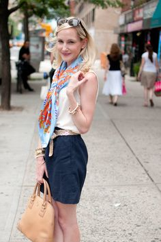 From the Lemon Stripes Store: Coral-Patterned Scarves, Tory Burch Bags and Lots of Bling - Kelly in the City