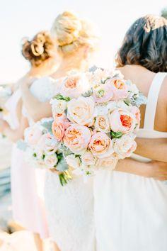 Garden roses: http://www.stylemepretty.com/little-black-book-blog/2015/04/06/romantic-wequassett-resort-wedding/   Photography: Kelly Dillion - http://kellydillonphoto.com/