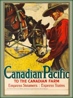 Canadian Pacific to the Farm Vintage Railway Canada Travel Advertisement Poster | eBay