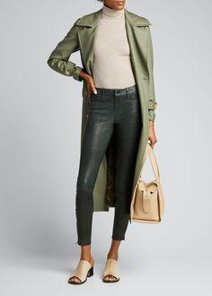 J Brand Leather Super Skinny Pants In Dark Green J Brand Jeans, Jeans Brands, Denim Branding, Fashion Branding, Skinny Legs, Skinny Pants, Trending Now, Super Skinny, Leather Pants