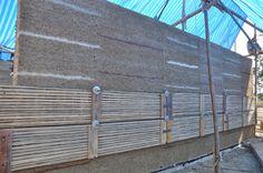 Rammed earth wall built by Chiangmai Life Construction at Panyaden