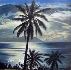"""Moonlight Palms"" by Eileen Frost"