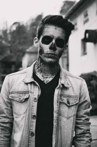 Halloween Skull Makeup Men
