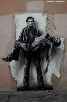 Ernest Pignon, Pasolini Image Du Christ, La Pieta, Pier Paolo Pasolini, Street Art Banksy, Urbane Kunst, Graffiti Artwork, Queer Art, Biblical Art, Christian Wall Art