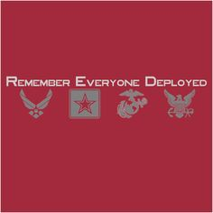 Remember Everyone Deployed (RED) unisex t-shirt by QuiteLikeHome on Etsy
