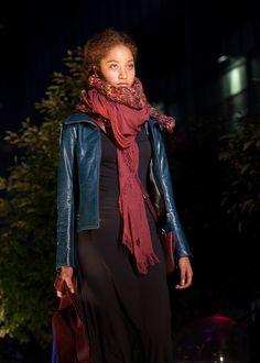#m0851 | Leather Jacket, Scarves, Leather Bags | Fashionshow | Festival mode et design de Montréal, summer 2012 www.m0851.com/home/