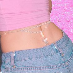 🗡 silver butterfly chain rhinestone belt w little gems in it 🗡 ♡ brand new ♡ ♡ fits up to ♡ ♡ hypoallergenic silver plated metal ♡ Please read my. Aesthetic Fashion, Pink Aesthetic, Aesthetic Clothes, Cute Jewelry, Body Jewelry, Jewlery, Festival Body Jewellery, Pink Fashion, Fashion Outfits