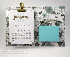 I'm excited to share today's project with you! The idea comes from when I first joined Stampin' Up! (over 12 years ago) and acrylic photo frame desktop note pads were all the rage. I thought it woul