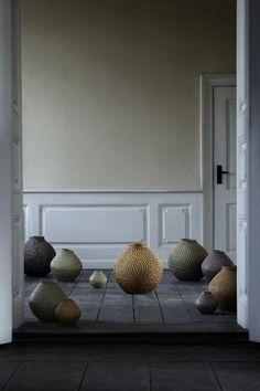 Broste Copenhagen - Dot Vase - XL - Yellow