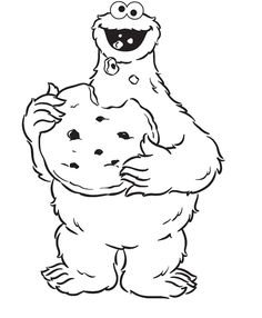 Cookie Monster Coloring Pages Bump Pinterest Cookie monster