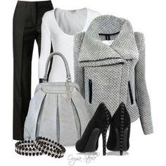 Loving the gray amd black slacks