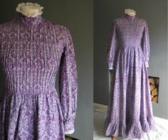 VINTAGE 70S LAURA ASHLEY DRESS MADE IN WALES VICTORIAN MAXI PRARIE in Clothes, Shoes & Accessories, Vintage Clothing & Accessories, Women's Vintage Clothing | eBay