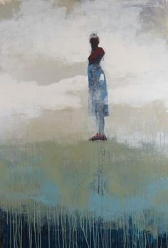 """Weight of Balance Ethereal; 2014; acrylic on wood; 60"""" x 40"""" [CH 47]"""