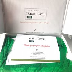 Sealed with Irish Love May 2018 open box Monthly Subscription Boxes, Love Box, Dublin Ireland, Seal, How To Find Out, Irish, Stationery, Stationeries, Stationery Shop