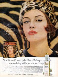 1962 Vintage ad for Cover Girl Matte Make-up Fashion Sexy Model 1960s Makeup, Vintage Makeup Ads, Vintage Beauty, Vintage Ads, Vintage Posters, Cover Girl Models, Cover Girl Makeup, Beauty Ad, Hair Setting