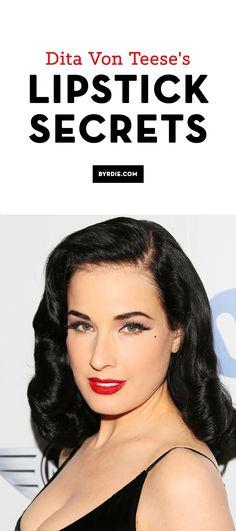 Dita Von Teese reveals her lipstick secrets