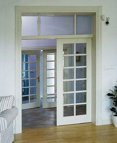 Room divider on pinterest room dividers colonial - Doors to separate kitchen from living room ...