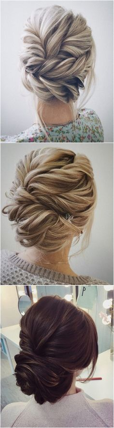 Wedding Hairstyles Updo beautiful twisted updo wedding hairstyle ideas - Images via : Fab Mood / I Take You / Wedding Forward / Mod Wedding / Oh Best Day Ever / Cute Wedding Ideas Wedding Hairstyles 2017, Fancy Hairstyles, Hairstyle Ideas, Engagement Hairstyles, Grad Hairstyles, 2017 Hairstyle, Evening Hairstyles, Simple Hairstyles, Easy Hairstyle